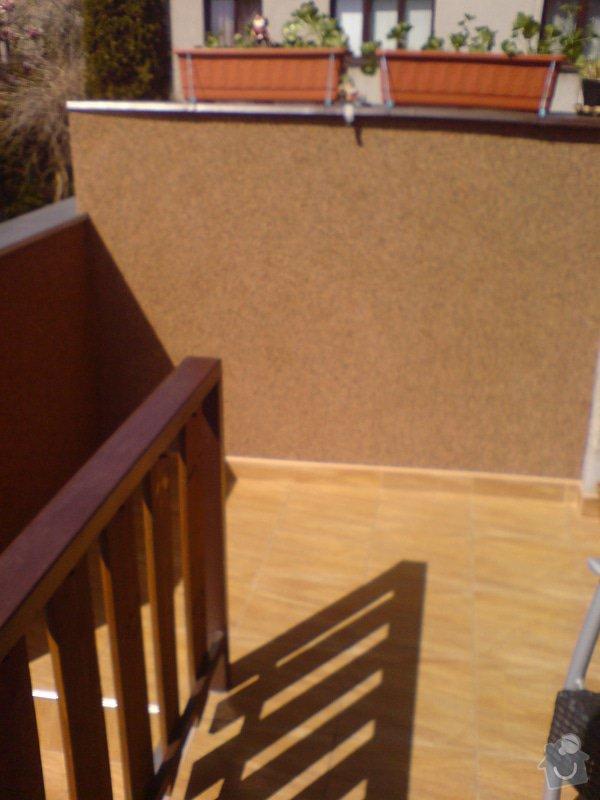 Oprava fasády domu, položení dlažby, marmolit, štukování: DSC01507
