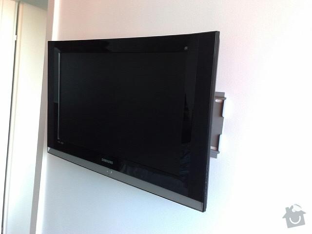 Vyvrtání a uchycení světla + LCD televizi namontovat na zeď: 25112010145