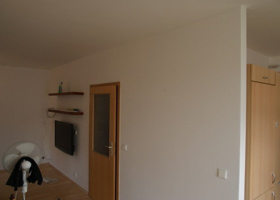 Oprava zdi, termo nater, malovani, pokladka koberce, instalace LCD