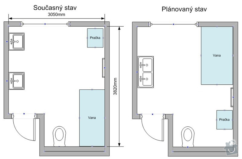 Rekonstrukce koupelny: rekonstrukce-koupelny_Planek