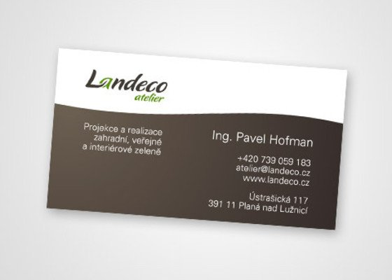 Design logotypu a webu pro Landeco atelier