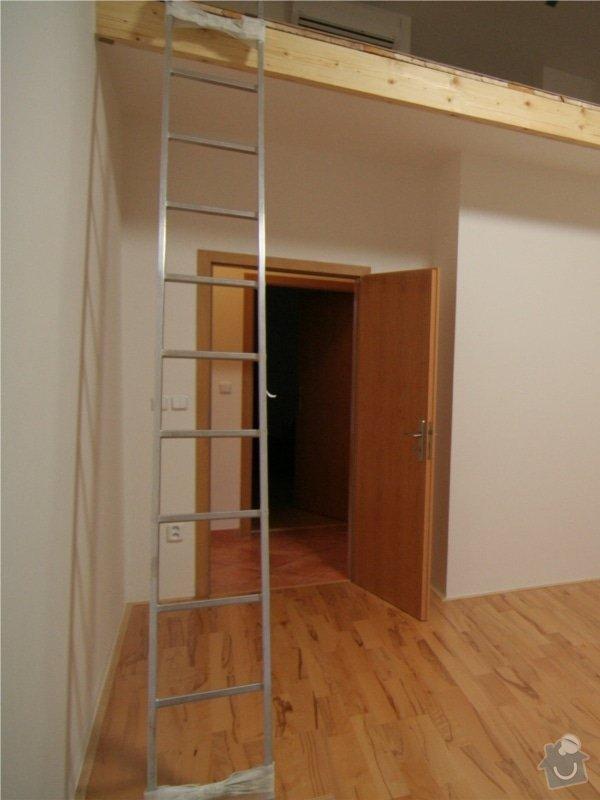 Dřevěné schody na podestu: bez_schodu
