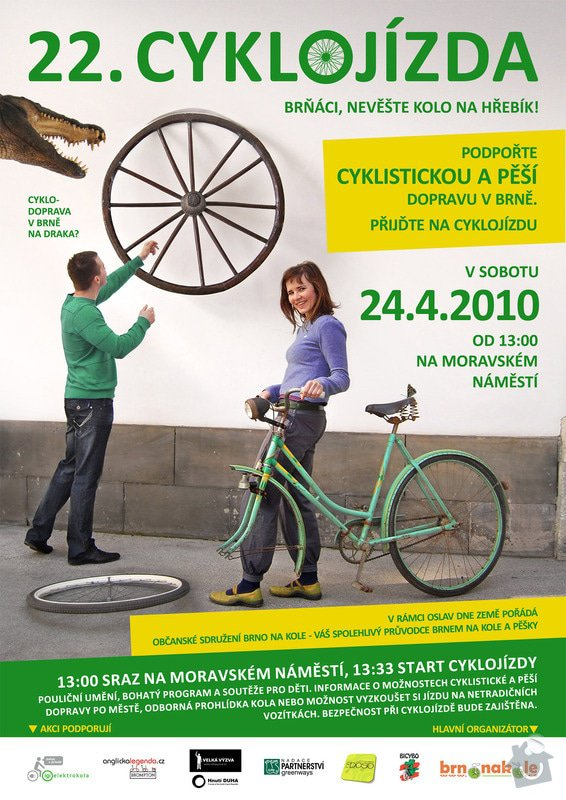 Grafika pro Brno na kole o.s.: cyklojizda-plakat