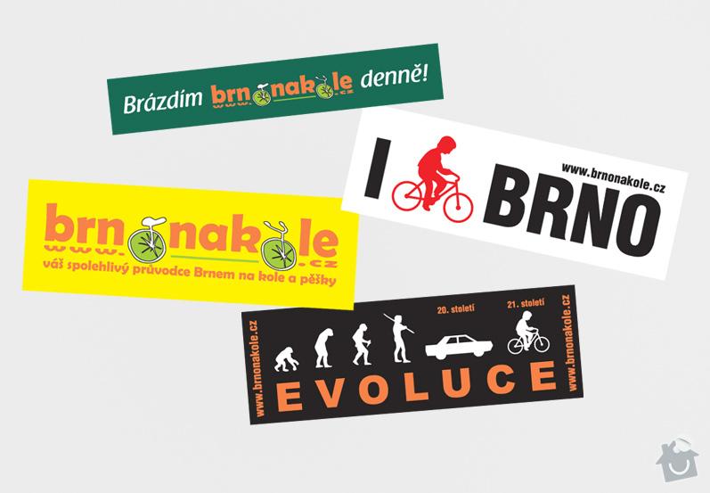 Grafika pro Brno na kole o.s.: SAMOLEPKY_BrnoNaKole