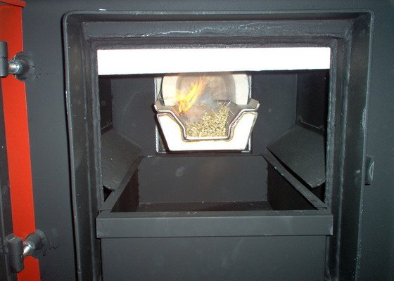 Automatická - peletová kotelna s KP51