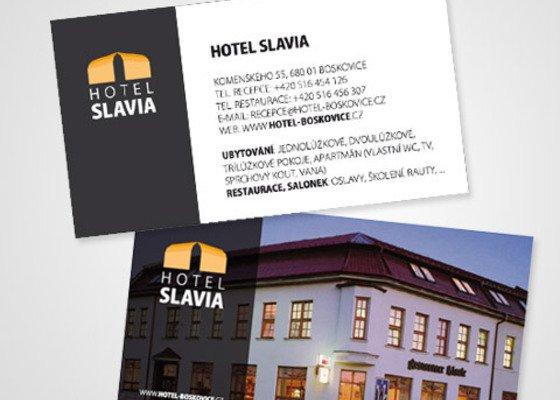 Design logotypu a vizitek pro Hotel Slavia