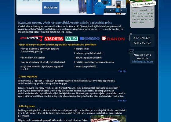 Vytvoření webových stránek