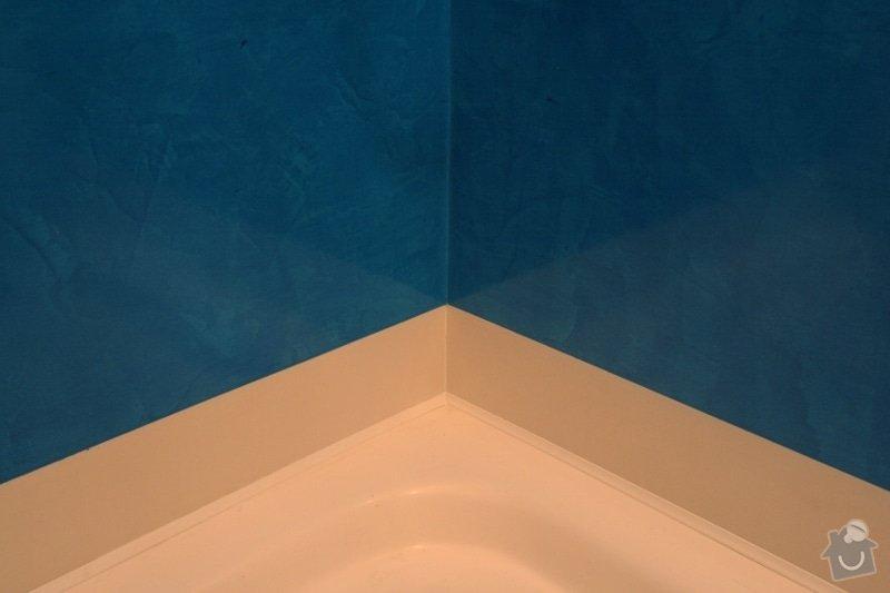 Benátský štuk ve sprchovém koutě místo obkladů: 4-vanicka-dlazdice-stuk