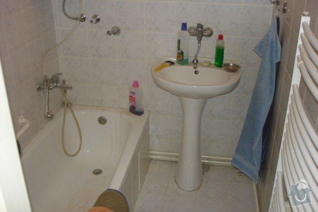 Rekonstrukce koupelny, montáž SDK podhledů: P_ed_rekonstrukc_1