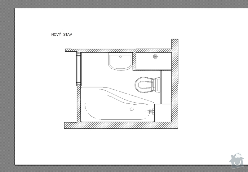 Rekonstrukce koupelny,akustické řešení: novy_stav