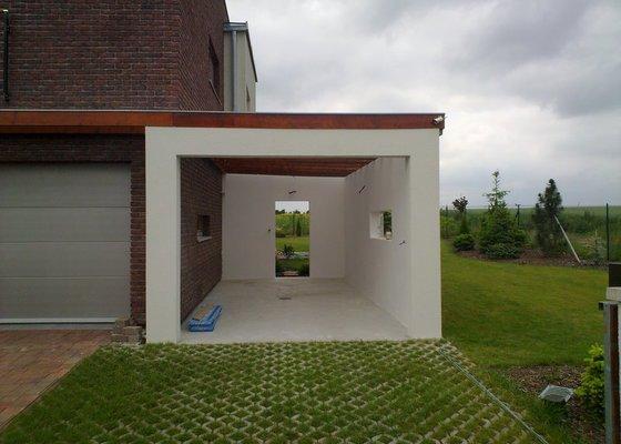 Přístavba garáže a dodání kuchyně