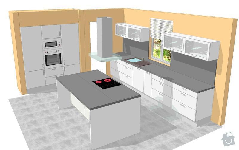Kuchyňská linka: perspektiva1