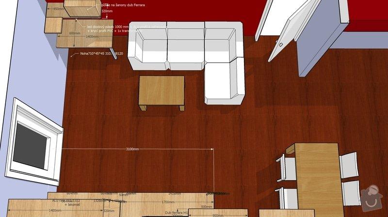 Nábytek do obývacího pokoje: TVsestava_pohled3