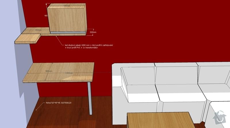 Nábytek do obývacího pokoje: TVsestava_pohled4