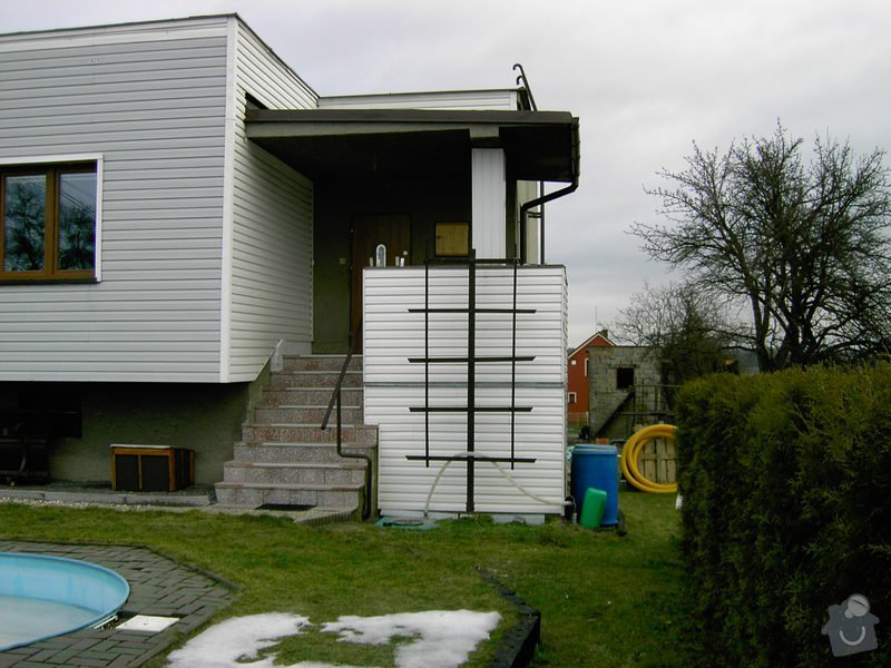 Lodžie - zasklení verandy RD + vstupní dveře: PICT0555