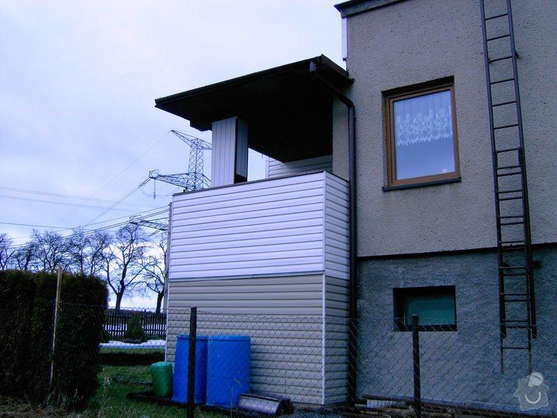 Lodžie - zasklení verandy RD + vstupní dveře: PICT0556