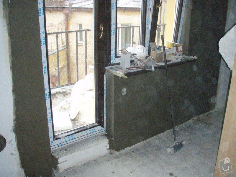 Začištění špalet kolem oken: P1141358