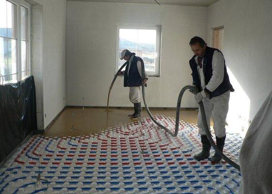 Litá podlaha - anhydrit