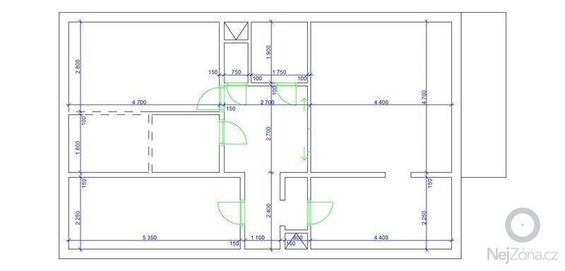 Zhotovení klimatizace v bytě: Hekrova_pudorys