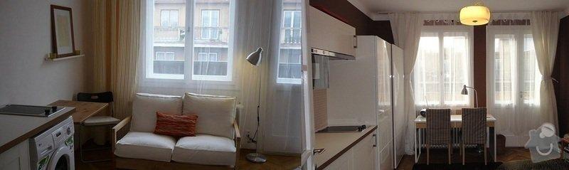 Malířské práce garsonka, obklad kuchyňské linky, kuchyňská skřínka: pred-a-po2