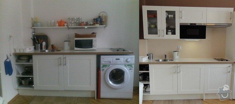 Malířské práce garsonka, obklad kuchyňské linky, kuchyňská skřínka: pred-a-po6