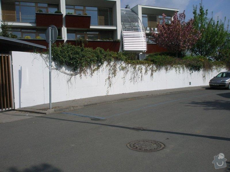 Odstranění graffiti na fasádě s použitím ochranného nátěru: P4280149