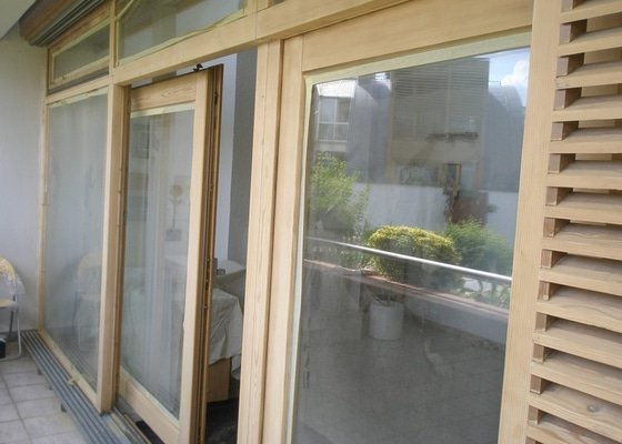 Obnova lazury na francouzských oknech