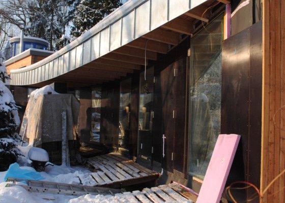 Hrubá stavba RD, dřevostavba