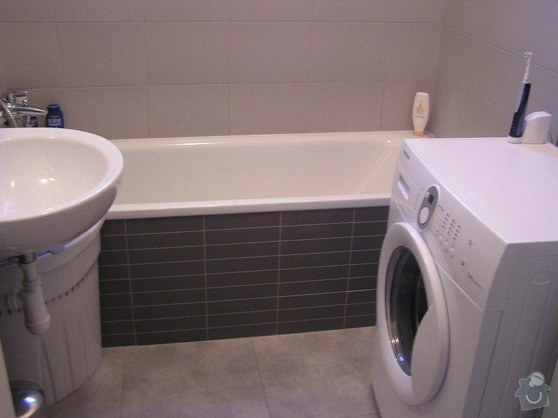 Rekonstrukce koupelny: pracka