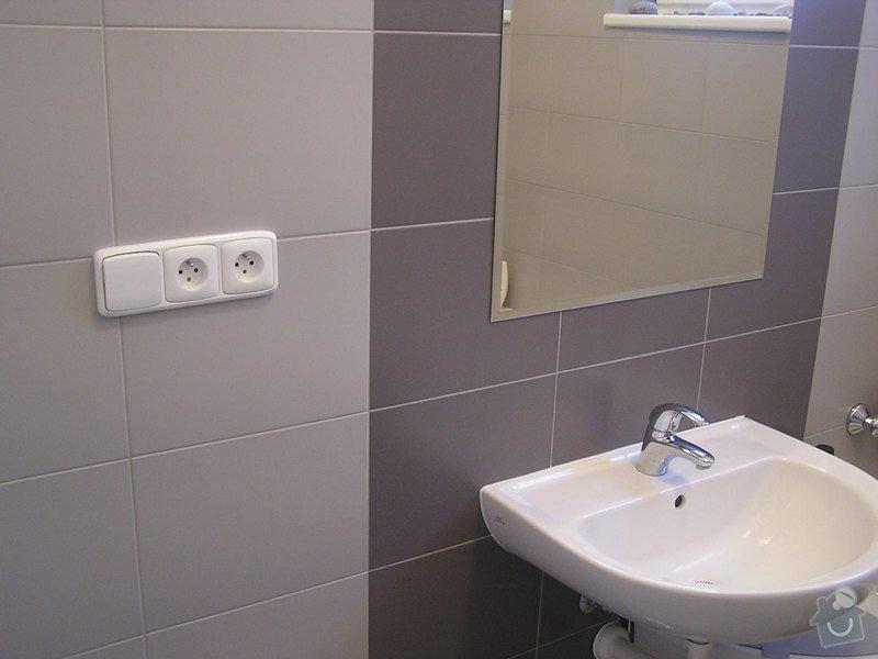 Rekonstrukce koupelny: zrcadlo