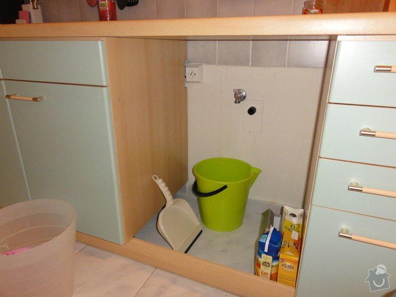 Úprava vývodů vody, odpadu, elektřiny pro vestavbu myčky: DSC00850
