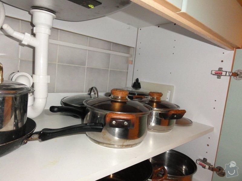 Úprava vývodů vody, odpadu, elektřiny pro vestavbu myčky: DSC00852