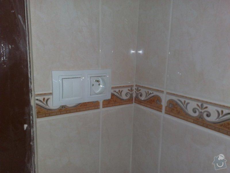 Nová elektroinstalace v kuchyni a koupelně: 03022011110