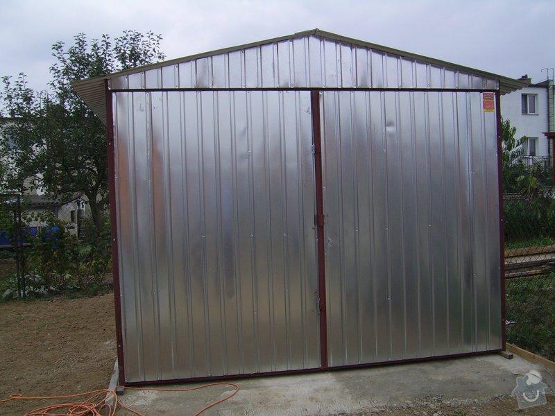 2 ks plechová garáž sedlová střecha, křídlová vrata: 3x5m_sedlova_strecha_kridlova_vrata_13.000_-