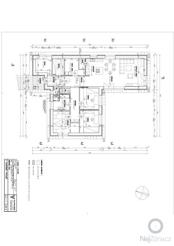 Hrubá stavba RD bungalov: 1np