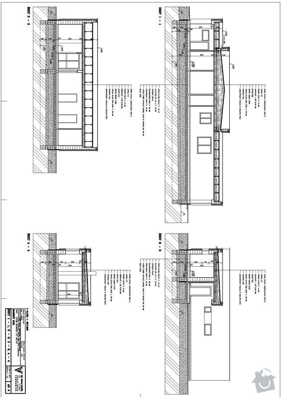 Hrubá stavba RD bungalov: rezy