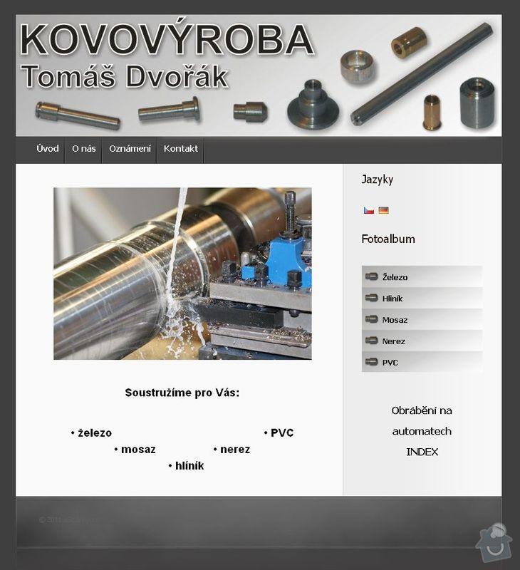Tvorba www stránek: kovovyroba_Dvorak