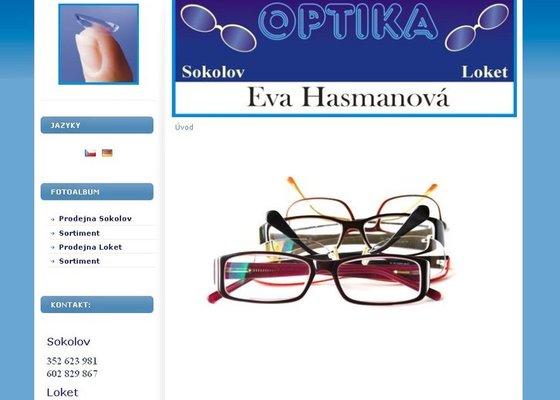 Tvorba www stránek - prodejna optiky