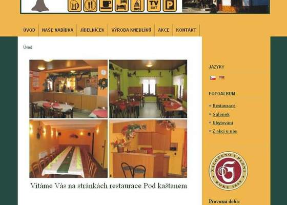 Www stránky pro restauraci