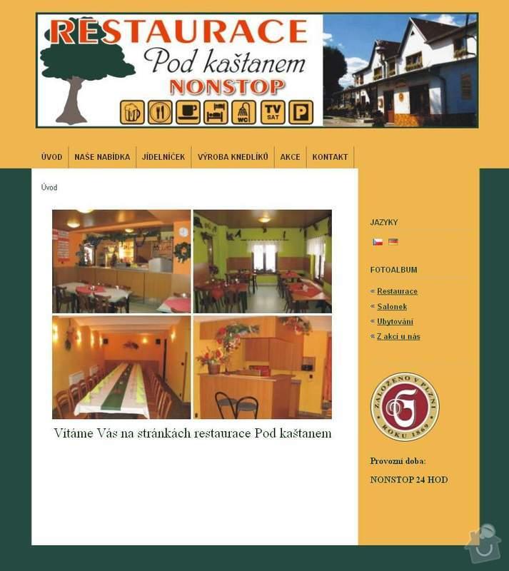 Www stránky pro restauraci: Restaurace_pod_kastanem
