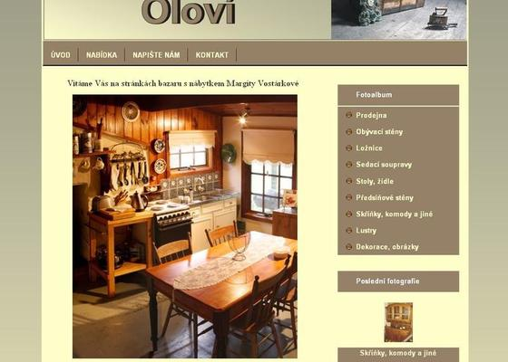 Www stránky - bazar nábytku
