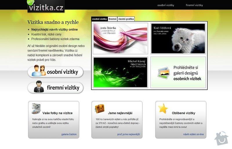 On-line návrh vizitky: screen_vizitkacz