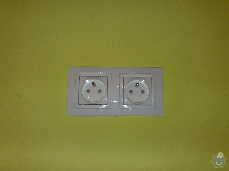 Výměna starých zásuvek a vypínačů za nové typy: 07022011135