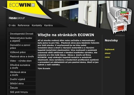 Tvorba internetové prezentace www.ecowin.cz
