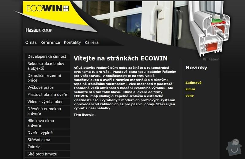 Tvorba internetové prezentace www.ecowin.cz: Uvodni_strana_webu_Ecowin
