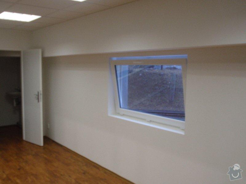 Sádrokartonová vestavba kanceláře.Minerální podhledy,bojler,malování,: P2111297