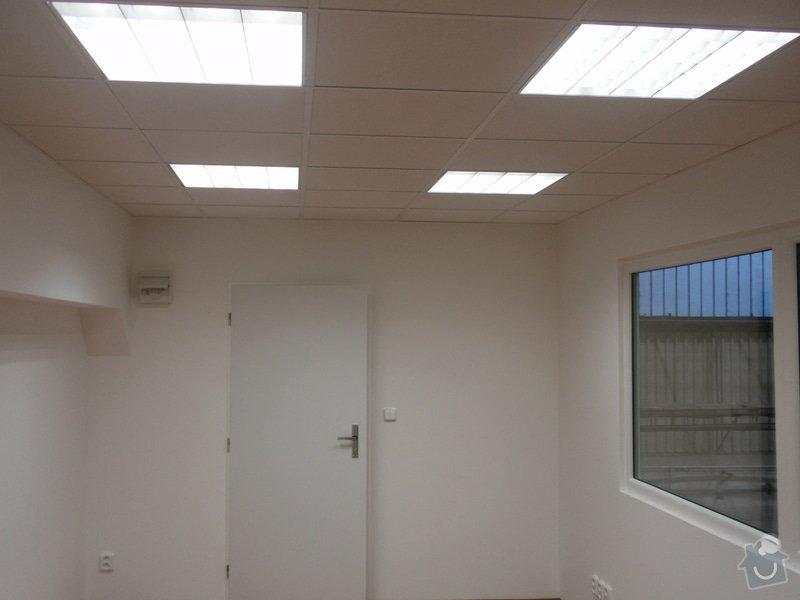Sádrokartonová vestavba kanceláře.Minerální podhledy,bojler,malování,: P2111310