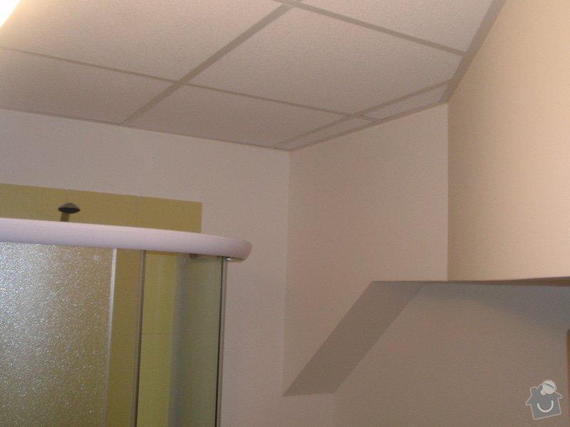 Sádrokartonová vestavba kanceláře.Minerální podhledy,bojler,malování,: P2111315