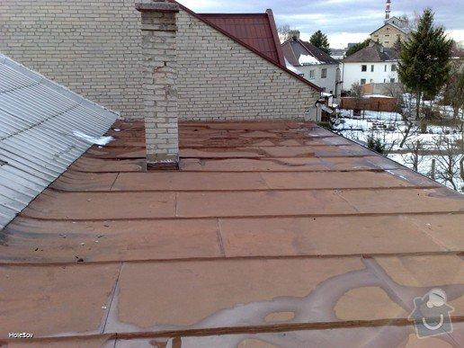 Oprava plechové střechy a kominu: 050220112321