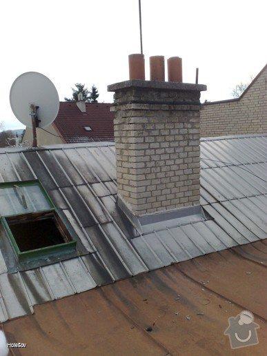 Oprava plechové střechy a kominu: 050220112322